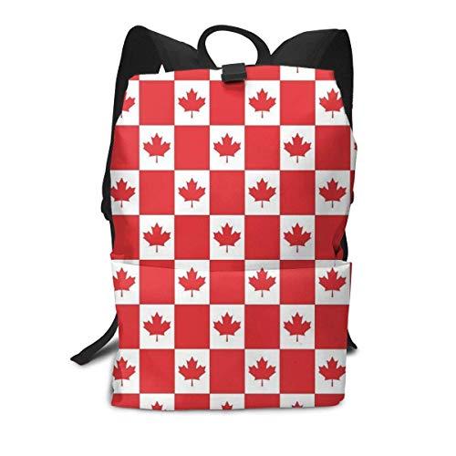 Rote Petro-Canada Flag Rucksack Mitte für Kinder Jugendliche Schule Reisetasche -