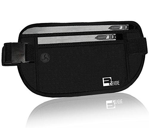 RFID Reise Geldgürtel / Gürteltasche / Geldbeutel / Hüfttasche / Reisepass-Etui für die Reise. RFID-Blockierung Sicherheitstasche Travel Money Belt (Kleidung Lg Hund)