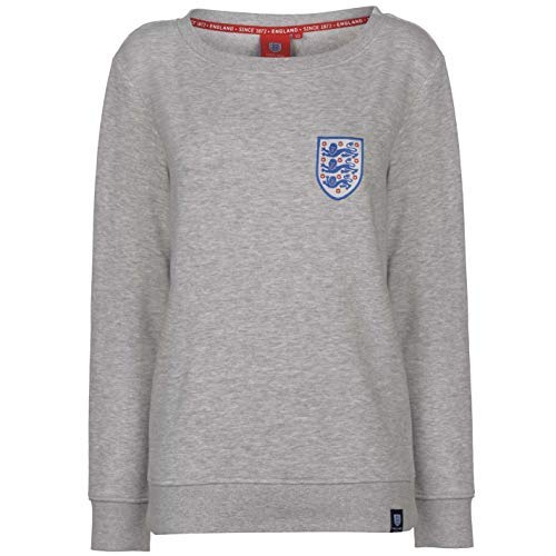 Abercrombie & Fitch FA England Rundhals-Sweatshirt für Damen, Grau, Fußball-Pullover, Damen, grau, UK 8 (X-Small)