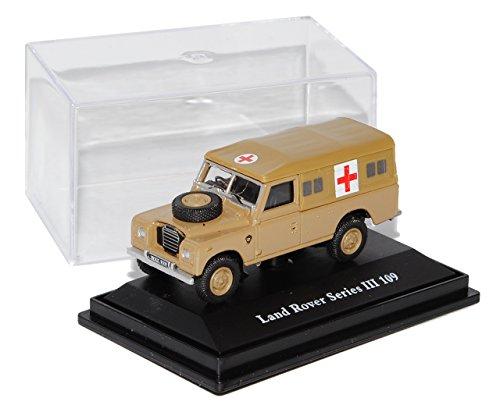 Preisvergleich Produktbild Land Rover Defender Serie III 109 Rotes Kreuz Braun 1/72 Cararama Modell Auto