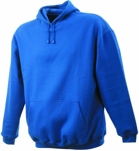 James & Nicholson Unisex Kapuzenpullover Sweatshirt Hooded Sweat Blau (Royal)