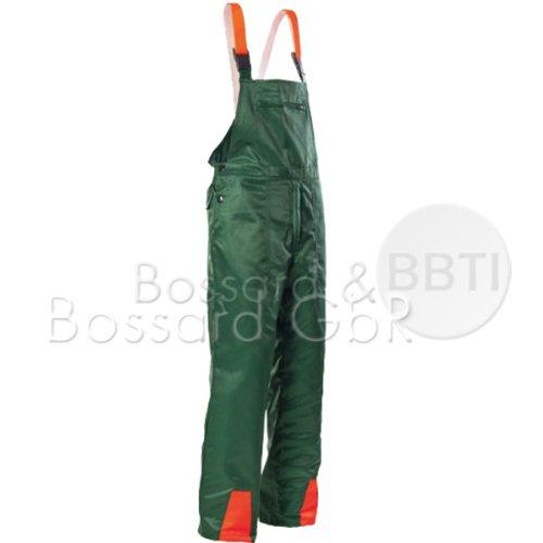 Hochwertige Schnittschutz-Latzhose Forsthose EN381 Schnittschutzhose (52, grün)