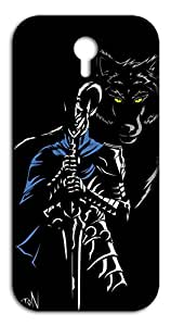 Happoz Wolf And Knight Mobile Phone Back Panel Printed Fancy Pouches Accessories Z1277
