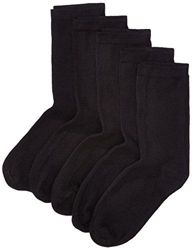 NAME IT Jungen Socken 5 Kids NOOS, 5er Pack, Einfarbig, Gr. 31 (Herstellergröße: 31-33), Schwarz