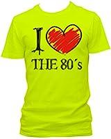NEON Herren T-Shirt I love the 80's FUN