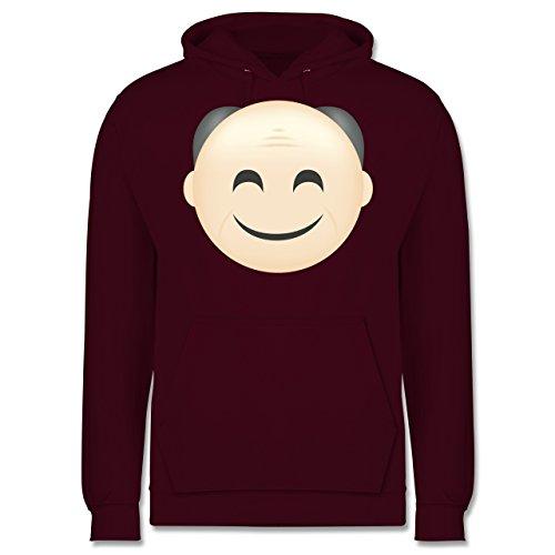 Opa - Opa Emoji - Männer Premium Kapuzenpullover / Hoodie Burgundrot