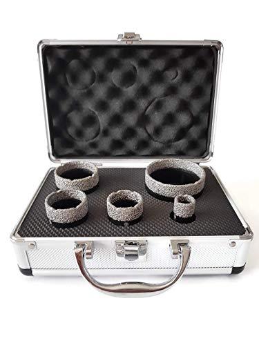 Diamantbohrkronen Fliesen-Bohrkronen Set 5-teiliges Ø 20, 35, 40, 50, 68mm