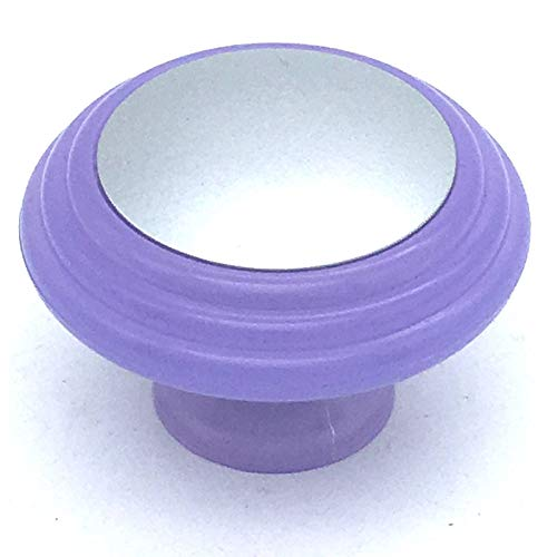 2 x Lilac & chrome effect 37mm knobs cupboard pull handles by Swish. by Swish