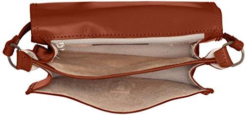CTM Klein Womens Schulter-Aktenkoffer aus echtem Leder hergestellt in Italien - 20x17x7 Cm Orange (Cuoio)