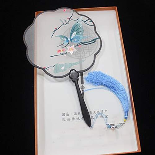 ZGFSZ Alte Wind Fan chinesischen Stil Stickerei Fan Suzhou Stickerei Seide Hand Palast Fan doppelseitige Hand Stickerei Gruppe Fan chinesische Stickerei nationalen Wind Geschenk Fan (Halloween-kostüme Verwandten Bar)