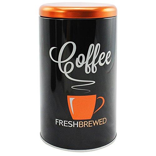 COM-FOUR® Trendige Kaffeedose für bis zu 500 g Kaffee, rund (1 Stück / Motiv 3)