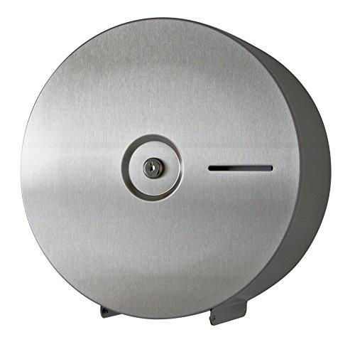 Hochwertiger Toilettenpapierspender Edelstahl - für Jumbopapierrolle - mit Papierbremse