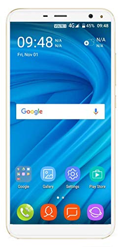 Xifo Shomi 7 Pro 4G Volte 5.5 Inch Display 4G Smartphone (2GB RAM, 16GB Storage) in Gold Colour