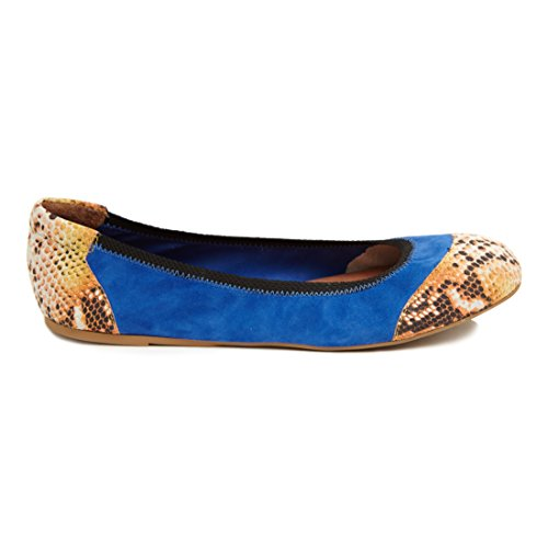 Zapatos Plegables De Cocorose - Chelsea Ballerinas Woman Blue & Orange Leather