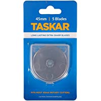 taskar Cuchillas Cúter rotativo (45mm para OLFA etc–Pack de 5