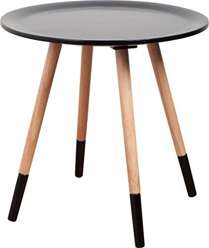 Runder Design Beistelltisch TWO TONE von Zuiver Ø 48 cm, Farbe:Schwarz