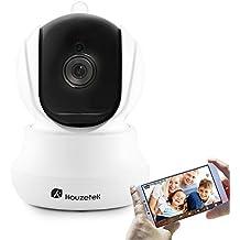 Vigilancia Cámara IP, Houzetek IP Cámara Wifi Inalámbrica LED Infrarrojo con APP para iOS, Android, Camara IP Interior y Exterior con Memoria, Vigilancia Bebé, Mascotas, Perros, Casa.