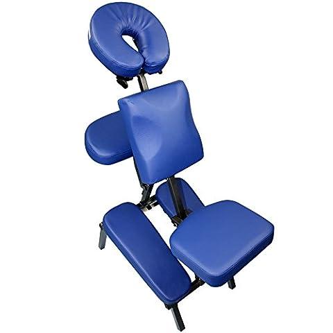 Chaise de massage pliable avec sac de transport , Couleur:bleu