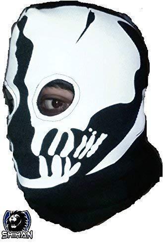 'medelin' 2agujeros, zorro disfraz ninja, 1Talla Adulto