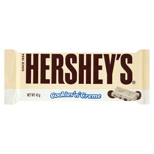 Hershey's Cookies-n-Creme Bar 43 g (Pack of 18)
