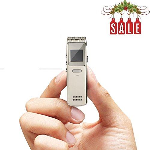 Diktiergerät,LESHP 8GB Digitale Voice Recorder LCD Bildschirm Stereo Lautsprecher Aufnahmegerät Sprachaufnahme MP3 Player im Büro Konferenz Schule Seminar