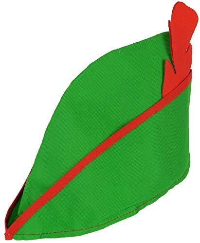 Herren Damen Grüner Filz Robin Hood Mittelalterlich Bogenschütze Tv Buch Film Festival Spaß Kostüm Kleid Outfit Hut