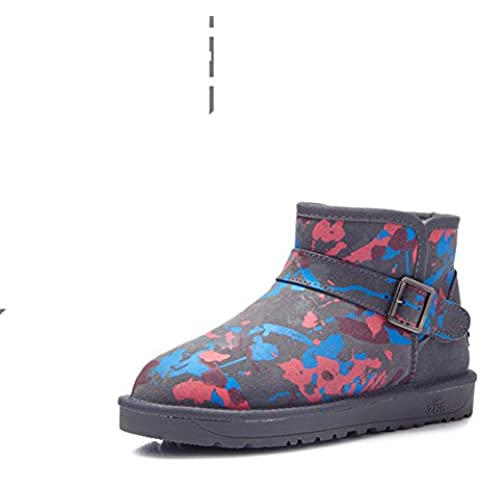 Tubo corto stivali da neve/Moda europea coibentato stivali/ stivali di