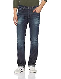 Jack & Jones Men's Clark Straight Fit Stretchable Jeans