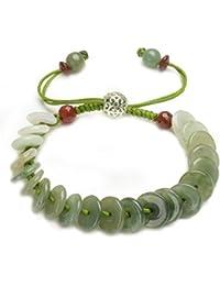 Rolling in money Elegant Green Jade Bracelet- Fortune Feng Shui Jewelry