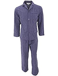 Walter Grange - Conjunto pijama de manga larga estampado a rayas tradicional hombre caballero