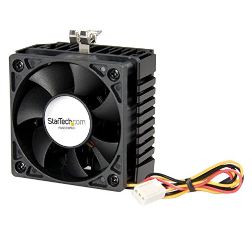 Startech.com Fan 370 Pro - Ventilador/Enfriador para CPU, Color Negro