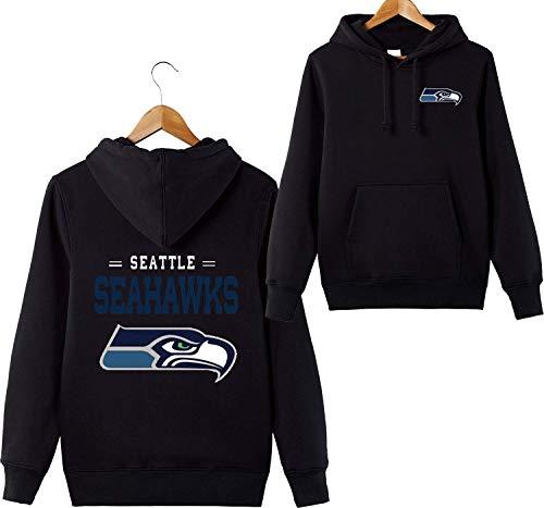 odies Seattle Seahawks NFL Football Team Uniform Muster Digitaldruck Liebhaber Kapuzenpullis(XXXXL,Schwarz) ()