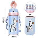 wxxsjfj Tazza di Isolamento Creativo Resistente al Calore Bottiglia di Acqua Carino Bambini Studenti Ragazzi e Ragazze Tazza d'Acqua bollitore per l'apprendimento del Bambino