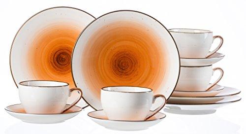 Ritzenhoff & Breker Kaffeeservice Cosmo, 12-teilig, Porzellangeschirr, Orange