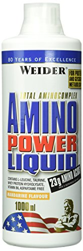 Weider, Amino Power Liquid, Mandarine, 1er Pack (1x 1000 ml)