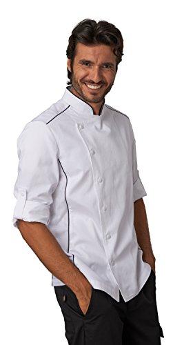SIGGI - Giacca per cuoco 'Alex' in cotone drill 100% irrestringibile. Inserti traspiranti. Peso al mq. gr. 190. - Taglia: XL - Varianti: bianco