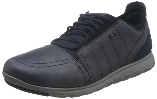 Geox U Xunday 2fit A, Sneakers Basses Homme Bleu