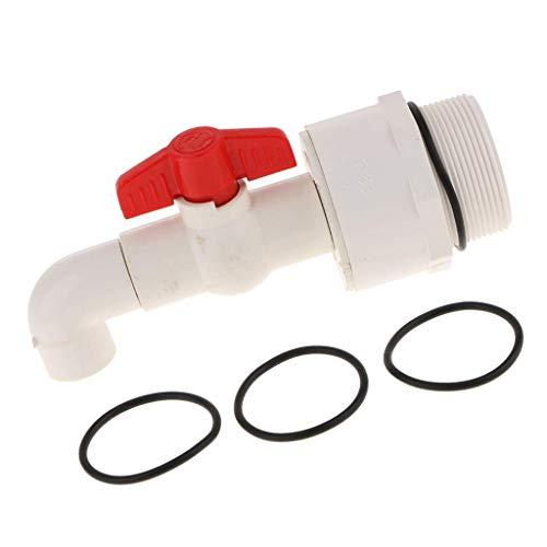 Ersatz-zapfen (UPVC Trommelfass Ersatz Zapfen Wasserhahn 90 Grad Auslass 5,1 cm Anschluss 25 mm)