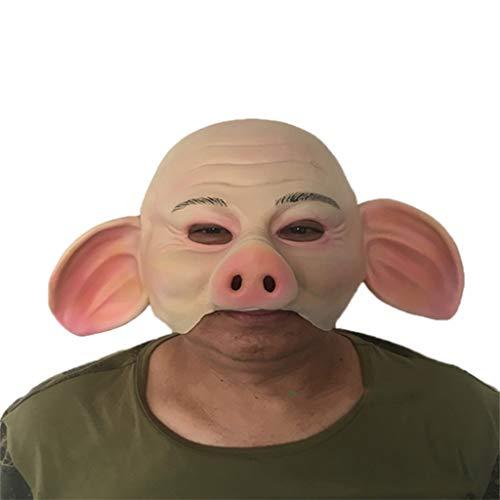 Masken Latex Kopf Maske, Halloween Horror lustige Schwein Gesicht Kostüm Party Masquerade Ghost ()