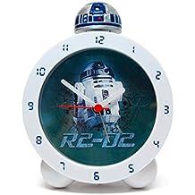 Zeon 10645 - Reloj despertador, replica R2D2 de Star Wars, con luz y sonido - Reloj R2D2 Despertador