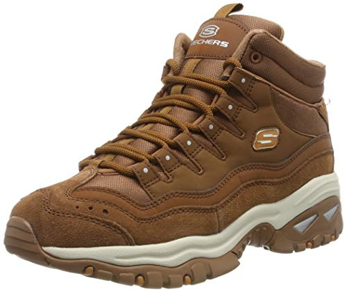 Skechers Energy, Botines para Mujer, Chesnut Leather/Mesh Csnt, 4 EU
