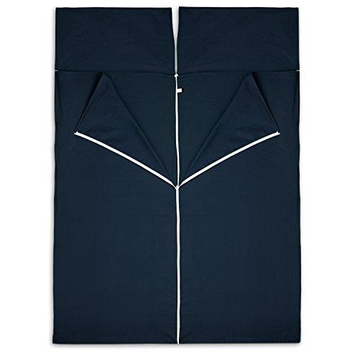 2er Hüttenschlafsack aus Baumwolle für Paare