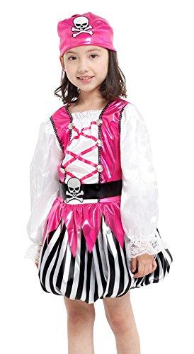 Imagen de marryme niña traje de vestido disfraz ladrón fiesta halloween rosa l 120 130cm