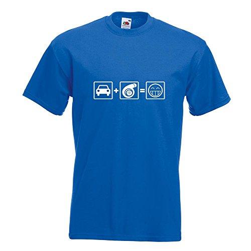 KIWISTAR - Turbo Boost T-Shirt in 15 verschiedenen Farben - Herren Funshirt bedruckt Design Sprüche Spruch Motive Oberteil Baumwolle Print Größe S M L XL XXL Royal