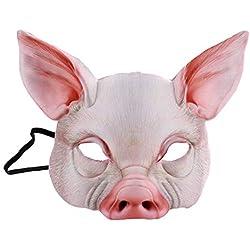 YeahiBaby Demi Visage Masque de Cochon Masque de Cochon pour la fête du Festival Mascarade Fantaisie Balle Cosplay