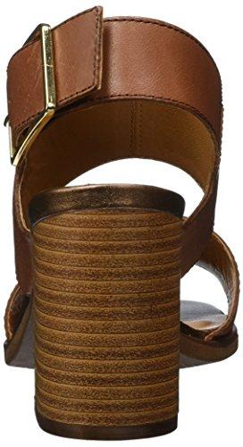 Vagabond Lea Damen Slingback Sandalen mit Blockabsatz Braun (27 Cognac)