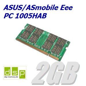 2GB Speicher / RAM für ASUS/ASmobile Eee PC 1005HAB - Asus Eee Pc 1005hab-speicher