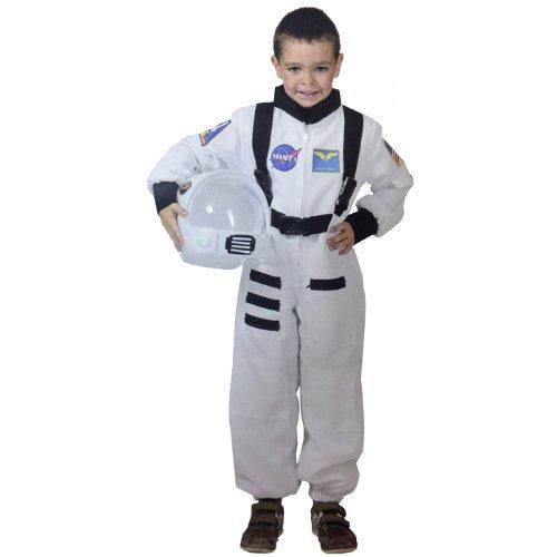 Generique Weißes Astronaut Kostüm für Kinder 128/140 (8-10 Jahre) (Kinder Astronauten-helm Für)