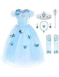 JerrisApparel Aschenputtel Kleid Prinzessin Kostüm Schmetterling Mädchen