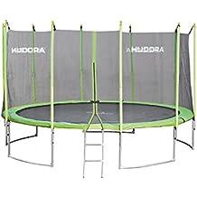 HUDORA Family Trampolin/Gartentrampolin, mit Sicherheitsnetz, grün
